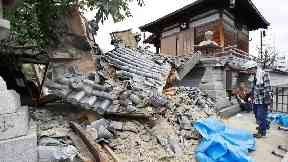 Three killed as earthquake hits Japanese city