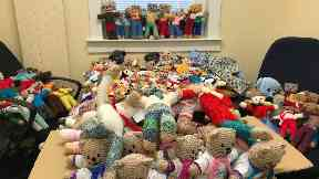 Teddies: Locals encouraged to help.
