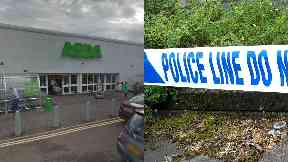 Asda: Van cordoned off in car park. Bishopbriggs