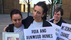 Family protests at inspectors' offices after damning care home report