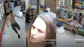 Woman falls through ceiling as CCTV of Edmonton duo's hapless attempt to evade police capture goes viral