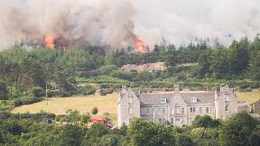 Wildfire Ben Bhraggie.