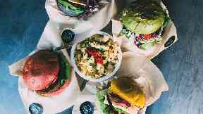 Vegan burgers, as supplied by Vegan Festivals