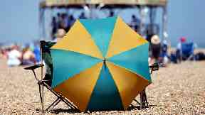 British woman impaled by beach umbrella