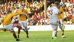 Impact: Frear scored three quick goals at Fir Park.