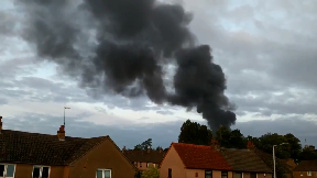 Fire at scrapyard on Montgomery Road, Leven, Fife. July 18 2018