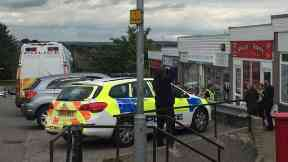 Aberdeen: Police questioned people outside post office. Sclattie Park Post Office