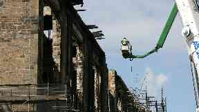 Mackintosh: Work ongoing to dismantle building.