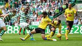 Danger: Dembele scored twice.