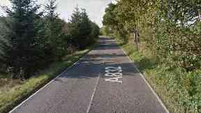 A832 near Munlochy in Highlands.
