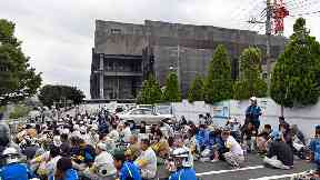 Two killed and dozens hurt in blaze at Tokyo construction site