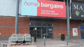 The Home Bargains store where the three-year-old boy was injured.