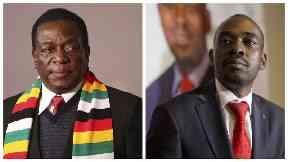 Emmerson Mnangagwa and Nelson Chamisa.