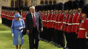 Donald Trump denies keeping Queen waiting before Windsor Castle meeting
