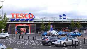 Tesco in Camelon near Falkirk.