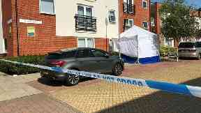 A forensic tent outside the property in Siloam Place, Ipswich.