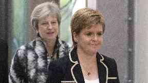 Nicola Sturgeon and Theresa May, August 7 2018, Edinburgh