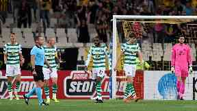 Celtic loss AEK Athens