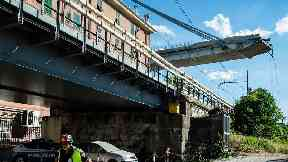 British family 'ran for lives' before Genoa bridge collapse