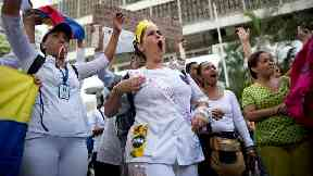 Doctors and nurses take to streets in Venezuela protests
