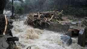 Flooding in Kozhikode, Kerala state.
