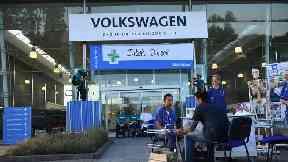 Volkswagen's Milton Keynes office was blockaded by Greenpeace.
