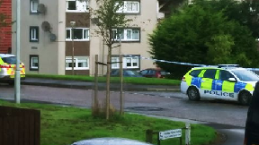 Calder Park: Police have cordoned off area. Edinburgh Gunshots Gun