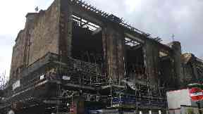 Art school fire: Residents and business owners claim they have been refused access to their properties.