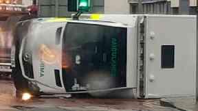 Ambulance crash in Whitburn, West Lothian on 22/8/18