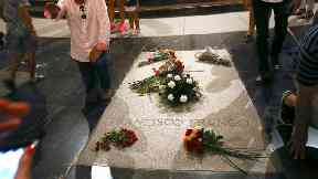 The tomb of former Spanish dictator Francisco Franco.