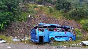 Bulgaria tourist bus plunges 66ft after crash