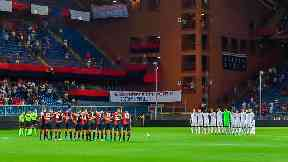 Genoa fans remain silent for 43 minutes in memory of bridge collapse victims