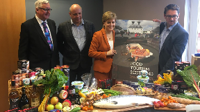 Industry leaders and the First Minister Nicola Sturgeon launch food tourism action plan in Arran August 27 2018.