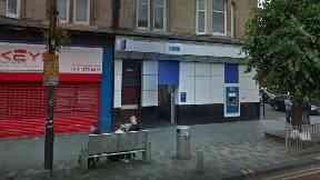 Bank: Robbed by gunman in Rutherglen.