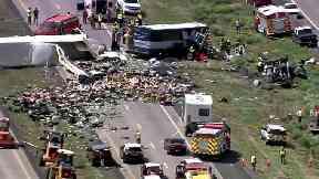 The crash occurred in New Mexico, near the Arizona border