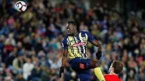 Usain Bolt made his Central Coast Mariners debut on Friday.