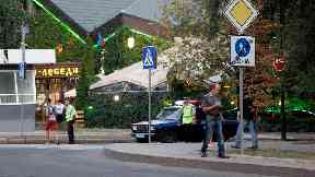Ukraine separatists say leader killed in cafe bombing