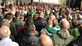 Disruption: Five people were injured. Celtic Janefield Street Crush