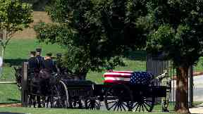 John McCain buried at US Naval Academy