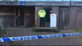 Glenrothes: Block of flats cordoned off. Forres Drive Double Death