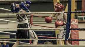 Brooke Neely from Ayrshire winning British gold boxing title, 2018