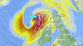 Storm Callum: High winds and rain expected.