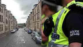 Lyle Street: Taken to hospital in serious condition. Greenock Lyle Street
