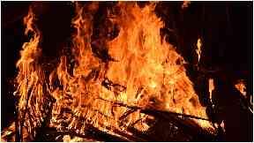 Stock image of bonfire