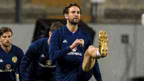 Out: Charlie Mulgrew is one of three Saturday withdrawals for Scotland.