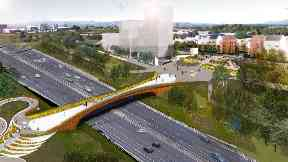 Plans for new Sighthill bridge unveiled over M8 2018