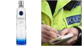 Haul: £60,000 of vodka was stolen.