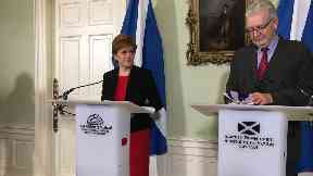 Nicola Sturgeon: She delivered a speech at Bute House.