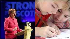 Nicola Sturgeon / school children
