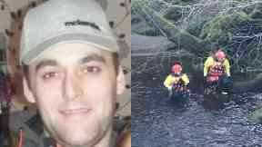 Lee Brown: Officers were searching a river.